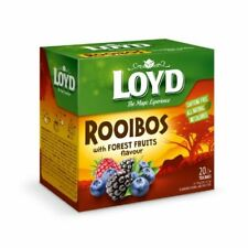 LOYD Rooibos with Forest Fruits Flavor Herbal Tea 20 Pyramid Bags Box