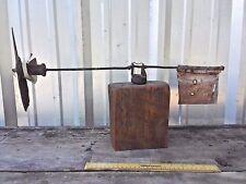 Antique Circa 1920'S Primitive Wood Folk Art Weathervane propeller metal tail