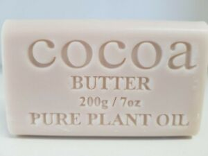 200g Cocoa Butter  Natural Vegetable Oil Soap x 1 bar