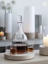 LSA Five Piece Decanter Set & Base New $180 -Perfect Father's Gift Set