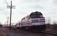 AMTRAK Railroad Train Locomotive 350 PAWCATUCK CT Original 1983 Photo Slide