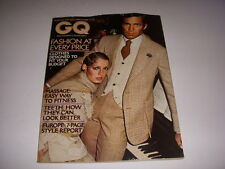 GQ GENTLEMEN'S QUARTERLY Magazine, September, 1974, EUOUPE - 7 PAGE STYLE REPORT