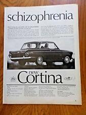 1965 English Ford Cortina Coupe Ad   Schizophrenia