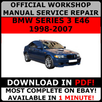 OFFICIAL WORKSHOP Service Repair MANUAL for BMW SERIES 3 E46 1998-2007