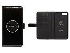 Mimco enamour black with rose gold iPhone 6 PLUS/7 PLUS/8 PLUS leather flip case