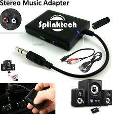 Bluetooth Wireless Music Adapter Audio Receiver Stereo AUX For MIC Speaker UK