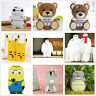 3D Cute Luxury Cartoon Animal Silicone Rubber Gel Tpu Cell Phone Case Cover Skin