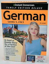 NEW Instant Immersion Family Edition Deluxe German Levels 1 2 3 PC/Mac/Tablet