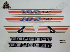 Autocollant Peugeot 102 SP Blanc.