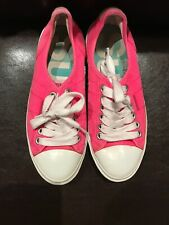Superdry Womens Bright Pink Lace Up Pumps Shoes Size 5