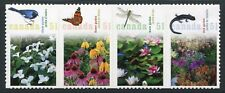 Weeda Canada 2145i VF NH Die cut Gardens strip of 4, from Annual Collection
