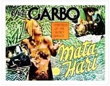 Mata Hari Poster Inset Left Greta Garbo Lionel Barrymore OLD MOVIE PHOTO