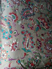 Boho Jacobean Paisley Multicolored King Sized Duvet Cover And Matching Pillow.