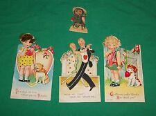 VTG ST VALENTINES DAY CARD MI GERMANY REAL HAIR BULLDOG BIG EYE BALLROOM DANCING