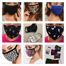 NEW Animal Print Reusable Face Mask Washable Soft Unisex Double Layer USA SELLER