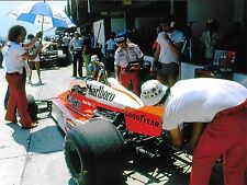 MCLAREN M26 #7 JAMES HUNT COCKPIT PITS BRAZILIAN GP RIO 1978 F1 PHOTOGRAPH BACK