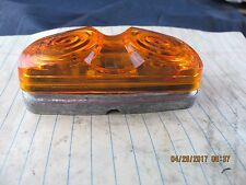 1203A Amber / Yellow Double Bullseye Die Cast Base Marker Clearance Light [D3S2]