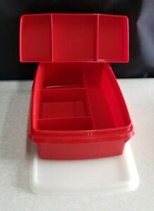 VINTAGE TUPPERWARE 767 STOW N GO 2pc ORGANIZER with LID * NEW WITHOUT PACKAGE