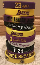 Los Angeles Lakers Kobe Lebron & AD NBA Wristband Bracelet Lot (10)