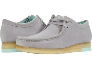Men's Shoes Clarks Originals WALLABEE Lace Up Suede Moccasins 60202 GREY COMBI