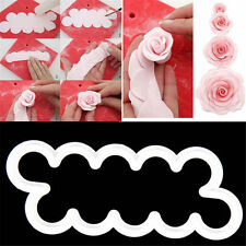 HOT 3Pcs The Easiest Rose Ever Cutter Fondant Icing Mold Sugarcraft Decor Mould