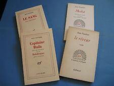JEAN VAUTHIER 4 OUVRAGES 1960-80 EO ENVOI Signé à P.L. MIGNON CAPITAINE BADA