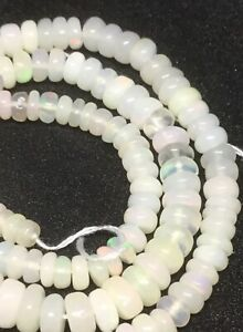 """Ethiopian Opal Rondelle Beads. 13.5"""" strand. 2x4 to 5x2mm Rondelle Beads. 💥"""