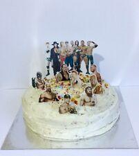 WRESTLING WWE SUPERSTARS  edible 3d cake topper scene stand up decoration set