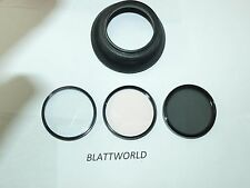 46mm OPTICAL GLASS SCREW in UV,SKY 1A,ROTATING POLARIZER FILTERS & LENS SHADE
