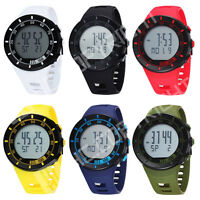 OHSEN Quartz LCD Digital Backlight Stopwatch Day Date Men's Running Sport Watch
