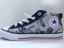 Converse Street Mid Navy Palm Tree Leaves Junior Size 4