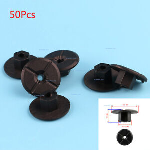 50pcs Plastic Nut Mounting Clips For BMW Mercedes VW Skoda Seat Free Shipping