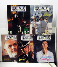 LUCASFILM Fan Club Magazine #5, 8-10 & 12- Starter Set of 5-STAR WARS/INDY/MORE