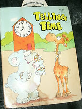 TELLING TIME by STONEWAY BOOKS 1985 BOARD BOOK BUTTONHOLE BOOKS