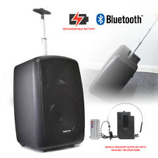 Battery Powered Portable PA Speaker System with Bluetooth and Headset Microphone