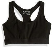 Pact Women's Sports Bra Black Size Medium M Organic Racerback Unpadded $32 #215