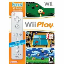 Wii Play With Nintendo OEM Wii Remote Wii U Very Good 6Z