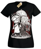 Afterlight Alice in Wonderland T-Shirt Womens Ladies Goth punk rock emo fantasy