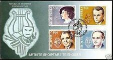 Albania Stamps 2002. FAMOUS ARTISTS. FDC Set MNH