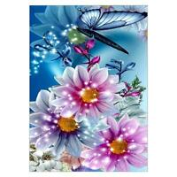 5D DIY Full Drill Butterfly Flower Diamond Embroidery Painting Cross Stitch #JT1