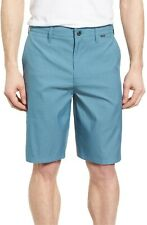 HURLEY Men's Dri Fit Harrison Casual Walk Shorts Teal Green Stripe Sz32 SOLD OUT
