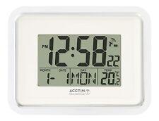 Acctim Delta controlados por radio Reloj De Pared MSF Señal Digital Calendario Temperatura