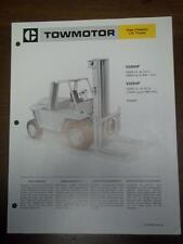 Caterpillar Lift Truck Brochure~V200HF/V225HF Fork Lift~Specifications/Data