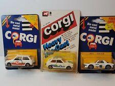 Corgi Vintage 1984 JB21 Fiat X19 JB26 Metro J33 VW Turbo Die cast 1:43 Pack 3