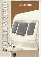 FLEETWOOD COLCHESTER CARAVAN RANGE SALES BROCHURE 1989 + PRICES