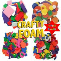 Crafty Foam Shapes 4 Pack Bundle  Numbers Letters Circles Rectangles 4 in 1 Deal
