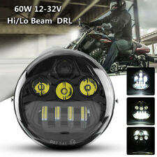 60W Motorcycle LED Headlight Hi/Lo Beam DRL For Harley Davidson VROD VRSC VRSCA