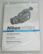 NIKON ACTION 8 VN 830 8MM VIDEO CAMERA RECORDER OPERATING INSTRUCTIONS MANUAL