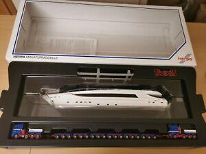 Herpa 154888 H0 1:87  Schwertransport Set Catwalk Yacht Riwatrans OVP