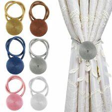 Ball Magnetic Curtain Buckle Holder Tieback Tie Backs Clips Home Window Decor